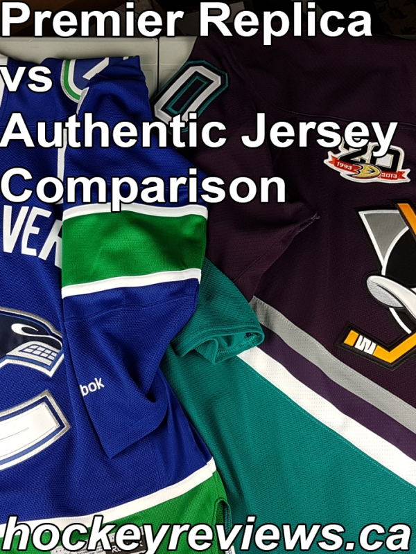 36295a21ffe NHL Reebok Premier Replica Jersey vs Authentic Edge 2.0 Condensed  Comparison Review