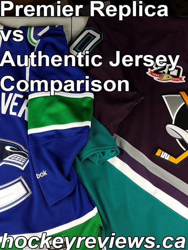 18993205fbf NHL Reebok Premier Replica Jersey vs Authentic Edge 2.0 Condensed  Comparison Review